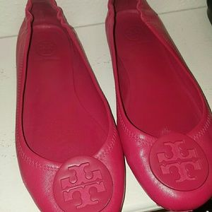 Tory Burch 'Minnie' flats - size 8